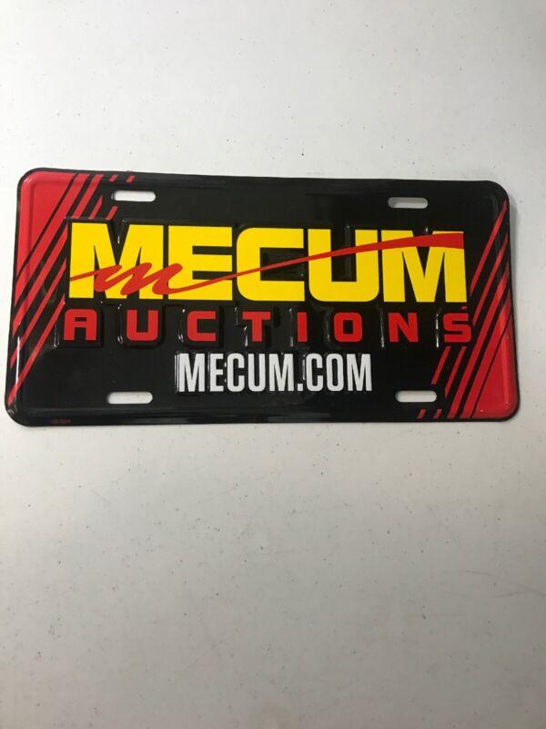 Original Mecum Car Auctions License Plate