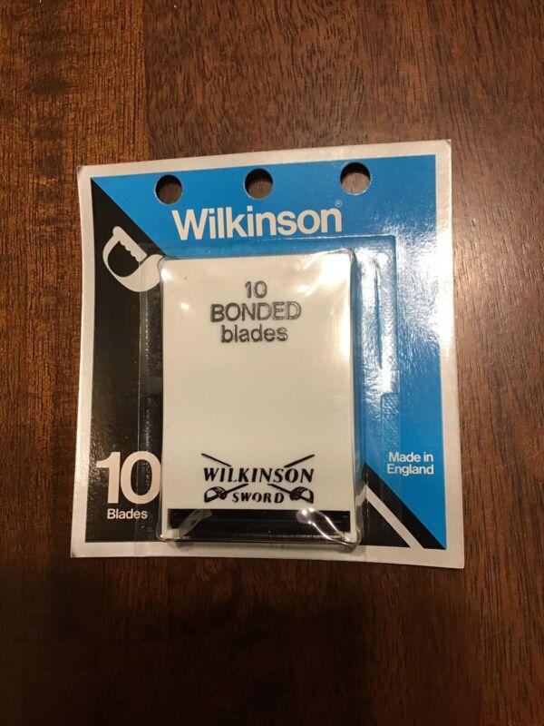 SEALED Vintage Wilkinson Sword 10 Pack Bonded Safety Razor Blades NOS