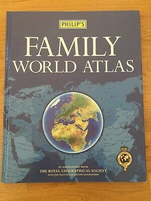 Philip's Family World Atlas by Royal Geographical Society hardback book