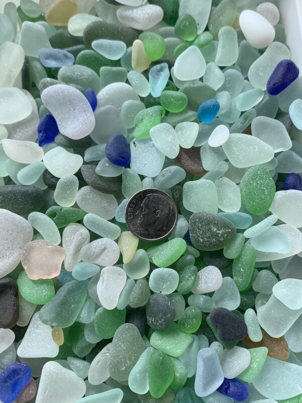 30pcs Mixed Colors Genuine Surf Tumbled Beach Sea Glass Jewelry/Crafts