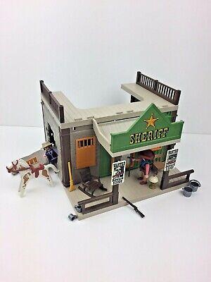 Playmobil 3786 Vintage Sheriff Office Prison Jail Breakaway Wild West Western
