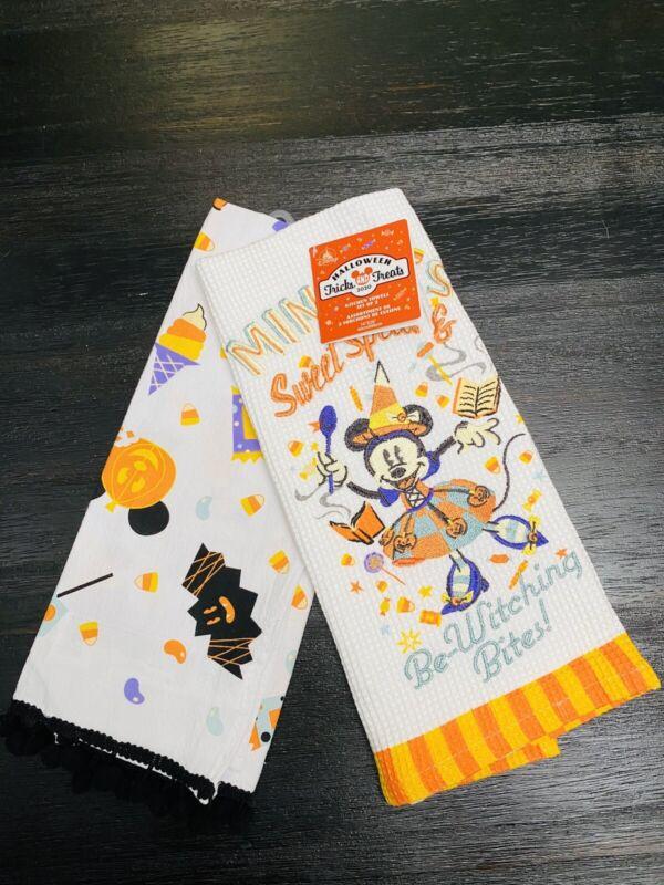 Disney Parks 2020 Minnie Mouse Halloween Kitchen Dish Towel Set