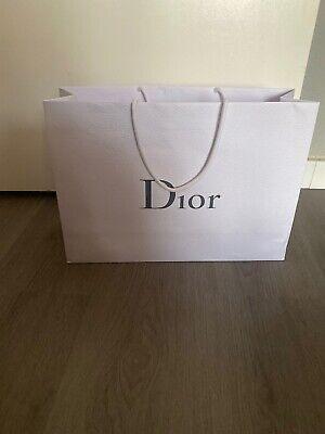 Christian Dior Papiertüte Tragetasche  Weiß Lederdesign 30x42x13 Cm