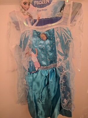 Disney Frozen Elsa Costume Size 4-6x Halloween costume with Cape BRAND NEW!!](Halloween Frozen Costume Elsa)
