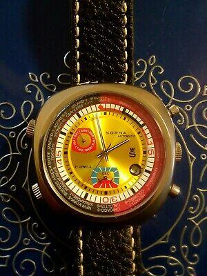 Sorna DIVER Cronogragh world time bezel Automatic  mens watch 21j all -