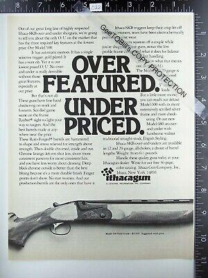 1973 Ithaca Gun Co NY Model 500 field grade SKB shotgun vintage advertisement ad
