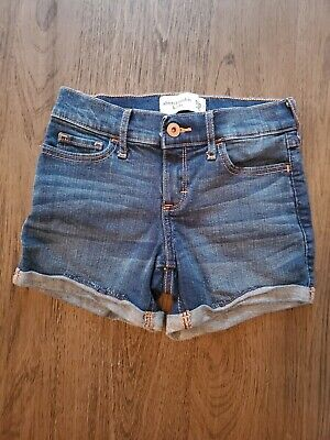Abercrombie & Fitch Kids Girls jean Shorts Denim Size 9/10 shorter length euc