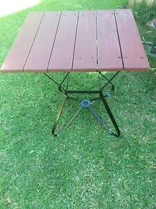 Patio Coffee Table Merbau Top with Metal Base Outdoor Very Sturdy Bayswater Knox Area Preview