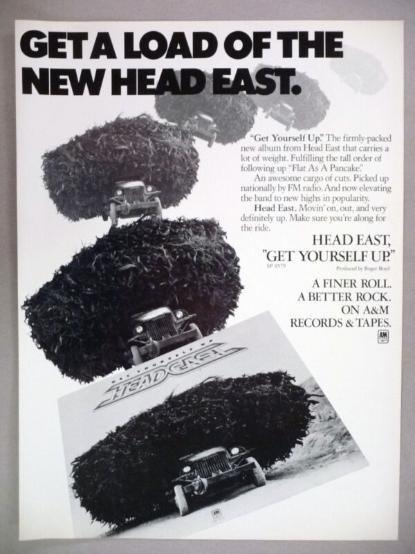 Head East PRINT AD - 1976 ~~ Get Yourself Up