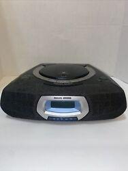 Philips Magnavox Gentle Wake Stereo CD Player Clock Radio AJ3935/17 Tested