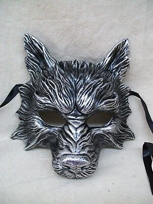 Silver Wolf Costume Mask Dog Jackal Red Riding Hood Little Piggy Nursery Rhyme
