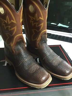 Brand New Pair Double-H Men's 12 Inch Size 10 D Square Toe Western Mustang Work