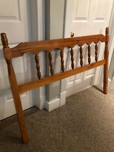 Full/Double Wooden Headboard & Metal Frame with Rollers