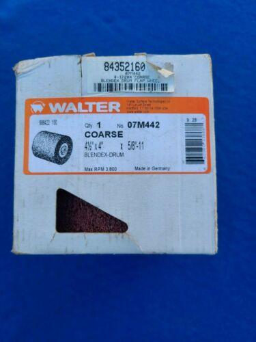 "WALTER 07M442 4-1/4""x 4"" - 5/8-11 Blendex-Drum Finish Abrasive - Coarse"