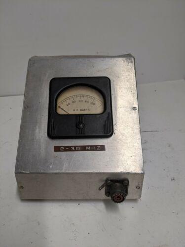 RF Wattmeter Homebrew, 2-30 mhz