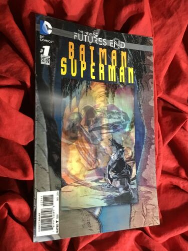 BATMAN SUPERMAN FUTURES END #1~LENTICULAR 3-D VARIANT~DC COMICS BOOK~1st PRINT~