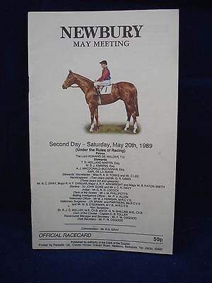 Horse racing - Race Card - Newbury - May 20th 1989