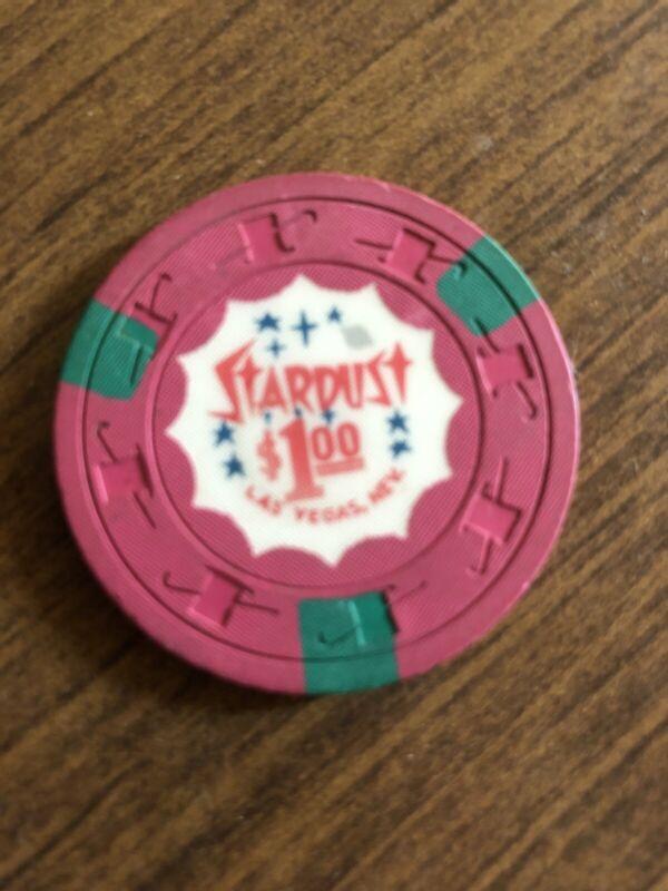 $1 stardust las vegas nevada  casino chip shipping is 3.99
