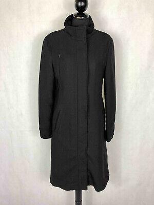 ARMANI JEANS Cappotto Donna Lana Elegante Nero Woman Wool Coat Sz.S - 42
