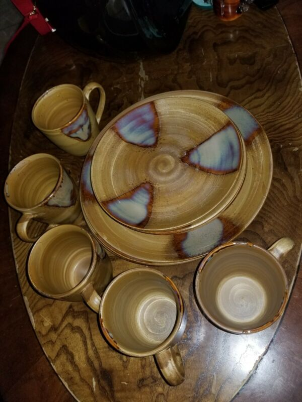 Sango Splash 4951 China Stoneware Glazed 12 Piece Dining Set