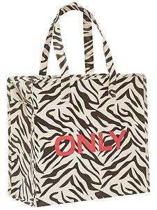 ONLY TASCHE Shopping Bag Umhänge Shopper Einkaufs Schulter Tasche Zebra WOW