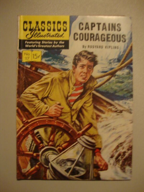 Classic Illustrated #117 G+ 1st PRT Captain Courageous