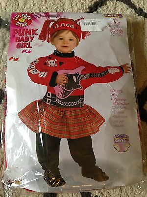 Punk Rock Baby Girl Infant Costume 18.5 - 25 Lbs. - Baby Punk Costume