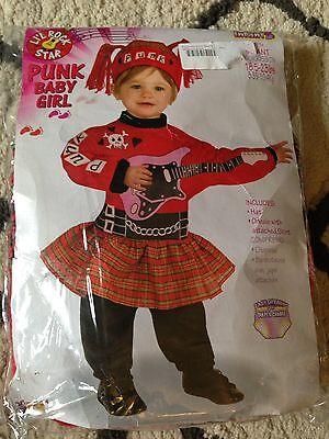 Punk Rock Baby Girl Infant Costume 18.5 - 25 - Punk Rock Kostüm Baby