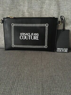 Versace Jeans Couture Clutch Handbag Black With Strap