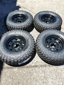 """4x 33 """" M/T tyres with Sunraysia wheels Virginia Brisbane North East Preview"""