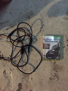 Rocksmith 2014 Xbox 360 game and cord