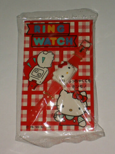 Sanrio HELLO KITTY Digital Quartz RING WATCH Vintage 1976-1988-1990 VERY RARE!