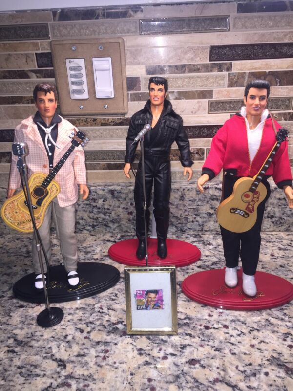 ELVIS PRESLEY Doll LOT Of 3 HASBRO 1993 TEEN IDOL, JAILHOUSE ROCK,