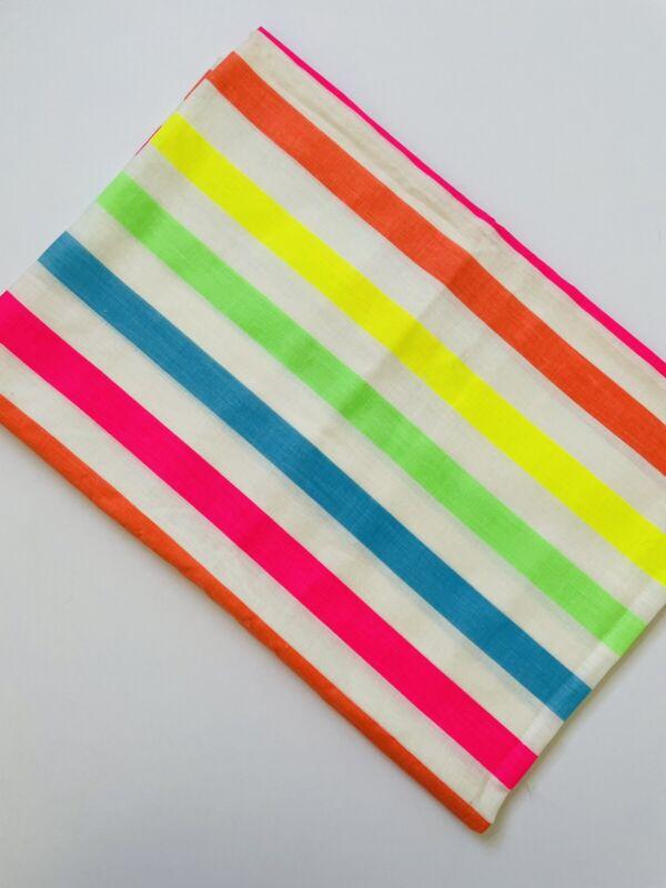 Vintage Neon Striped Fabric