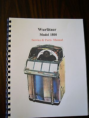 Wurlitzer Model 1800 Jukebox Manual