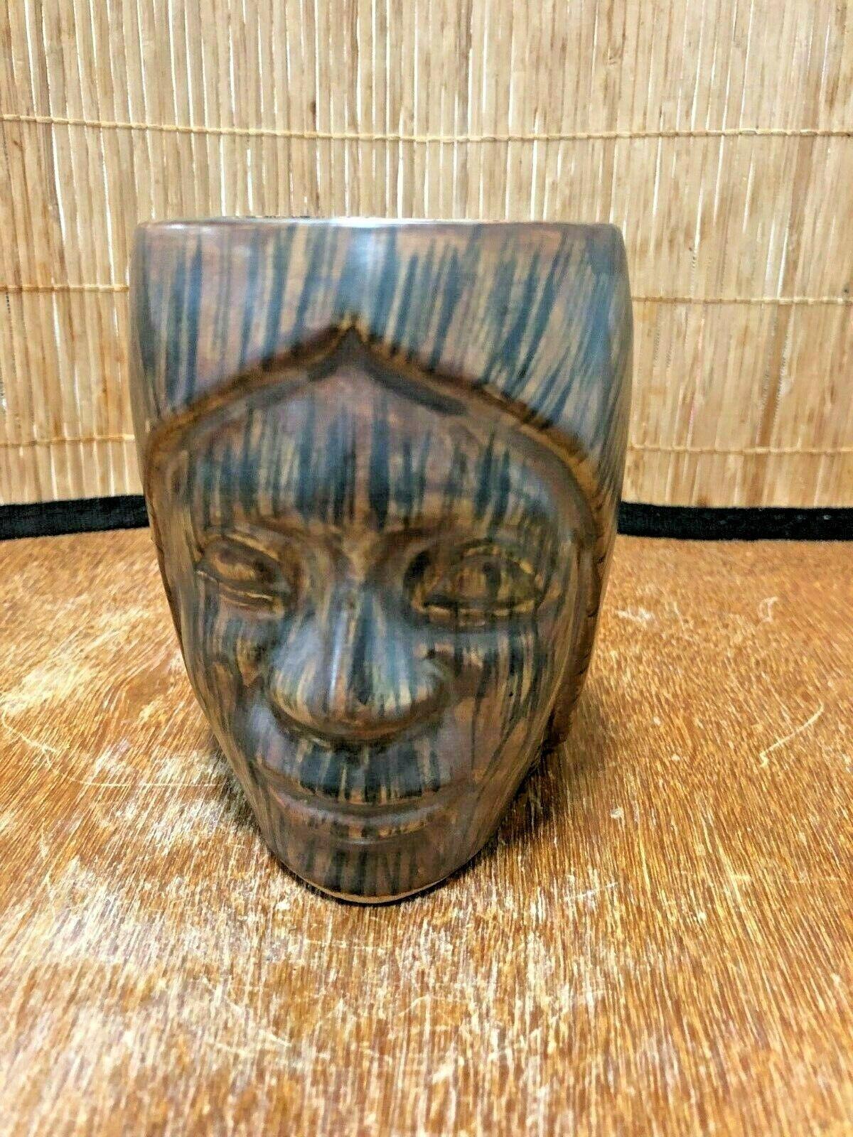 Vintage Paul Marshall Products PMP Polynesian Woman Head Handled Tiki Mug Cup