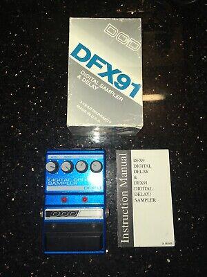 DOD Digitech DFX91 Digital Delay Sampler Rare Vintage Guitar Effect Pedal + Box
