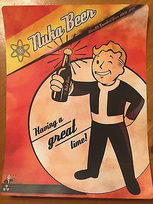 Tin Sign Vintage Fallout  Nuka Beer Having A Good Time