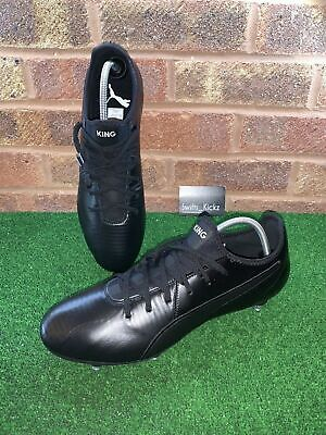PUMA KING PRO SG FOOTBALL BOOTS - BLACK - SIZE UK 12
