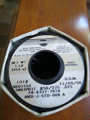 Kester Solder Wire 24-6337-7616 Sn63pb37 .025  1-lb.