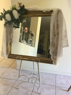 Stylish welcome   Easel and gold mirror 27.50