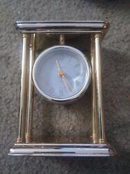 Brass Bulova Quartz Mantel Desk Clock B1435 Free Shipping!