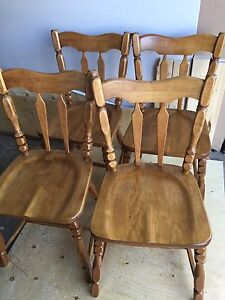 Solid wood kitchen chairs - 4 available