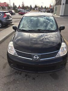 NISSAN VERSA 2009 automatic HATCHBACK  BLACK ACTIVE