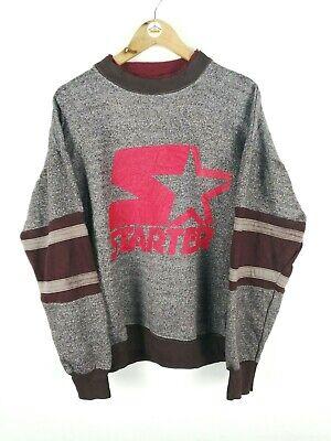 Mens Vintage STARTER Big Spell Out Logo Pullover Sweater Thick Jumper | Medium M