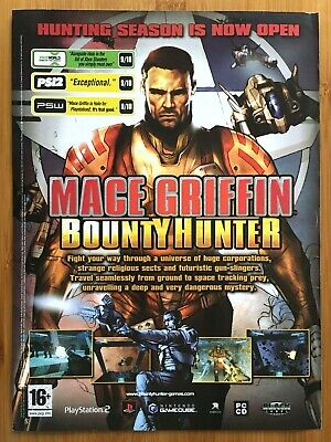 Mace Griffin Bounty Hunter PS2 Xbox GCN 2003 Vintage Print Ad/Poster Official UK