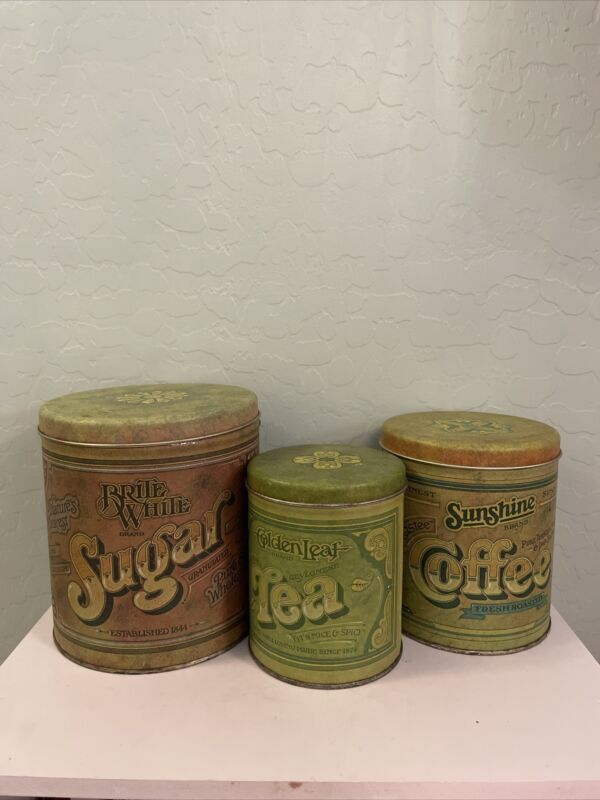 Vintage Ballonoff Canister Set Green