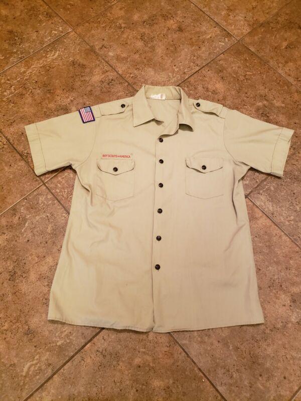 VTG BSA Boy Scouts Of America Uniform Shirt Adult Large