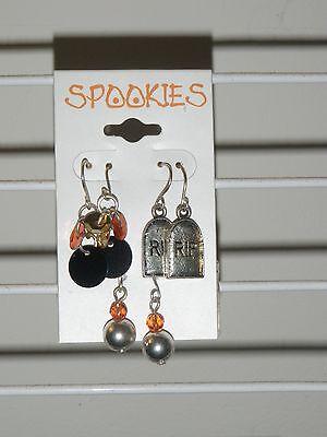 Spookies HALLOWEEN 3 Pairs Pierced Earrings~Holiday Costume Jewelry-*US SELLER* - Halloween Spookies