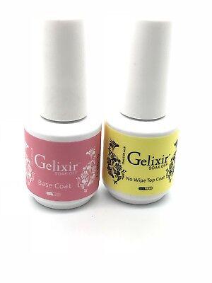 Gel Bases - GELIXIR Soak Off Gel No Wipe Top & Base Duo On Sale!